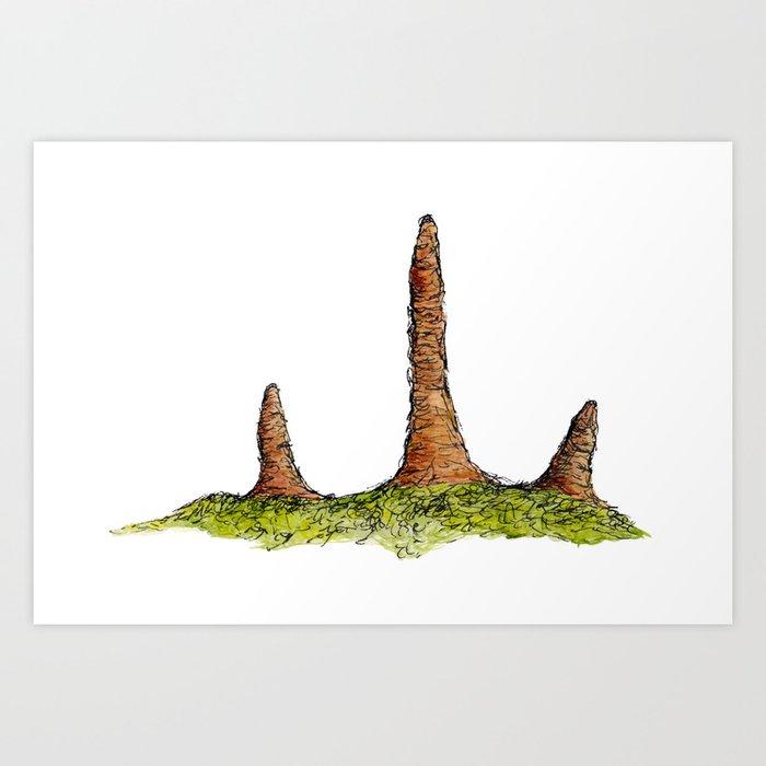 Prototaxites Fungi Art Print