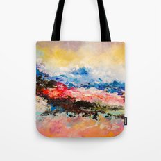 Dreaming volcano Tote Bag