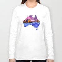 sydney Long Sleeve T-shirts featuring Sydney Harbour by Alan Hogan