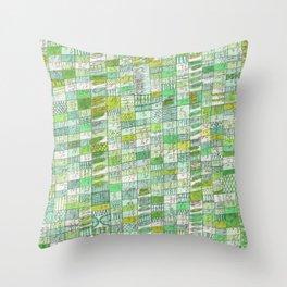 green 13 Throw Pillow