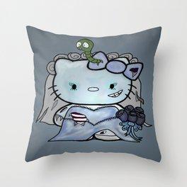 Zombie Bride Throw Pillow
