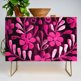 Hot Pink Mexican Flowers Credenza