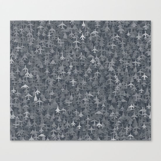 Airplanes camouflage Canvas Print