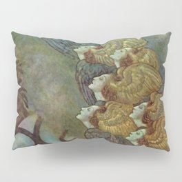 """The Bells"" Fairy Tale Art by Edmund Dulac Pillow Sham"