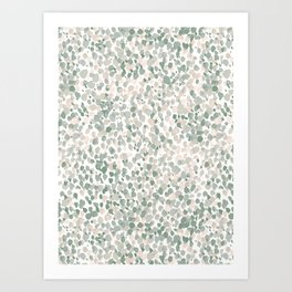 Lighthearted Flamingo Green Art Print