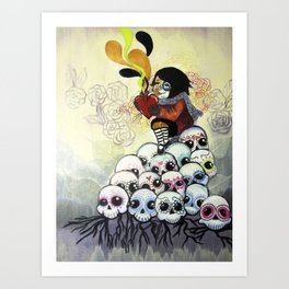 """Sugar Skull Song: You are Where You are Because of Them"" 2011 Art Print"