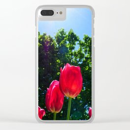 Skyward Tulips Clear iPhone Case