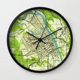 Vintage Map of Fredericksburg Virginia (1944) Wall Clock