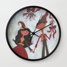 Mistletoe! Wall Clock