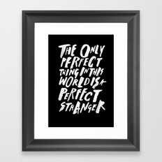 THE PERFECT THING Framed Art Print