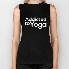 Addicted To Yoga Gift Biker Tank