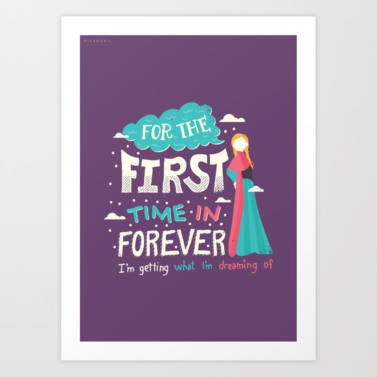 First Time in Forever Art Print
