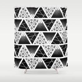 Zentangle Triangles Shower Curtain