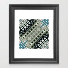 Diagonal Mirror Abstract Framed Art Print