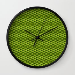 Dragonscale: Green Wall Clock
