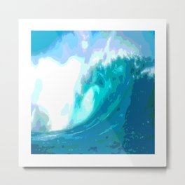 poster paint wave modern home design Metal Print