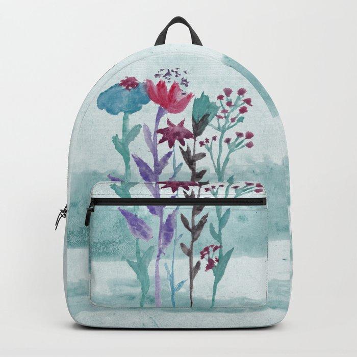 Meadow Flowers Watercolor Backpack