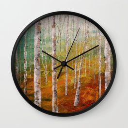 Birch Tree Forest Wall Clock