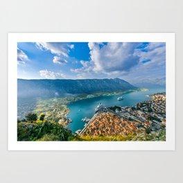 The Bay of Kotor Art Print