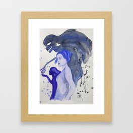 Demon and Child Framed Art Print
