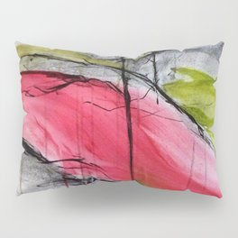 Pink Landscape. Color of Japan. Original Painting by Jodi Tomer. Abstract Artwork. Pillow Sham