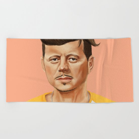Hipstory -  John F Kennedyn Beach Towel