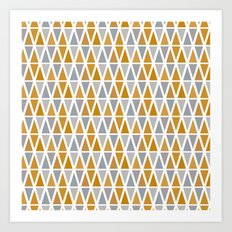 Golden and silver triangles Art Print