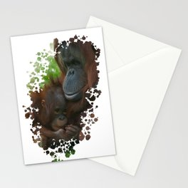 Orangutan Mother And Baby Stationery Cards