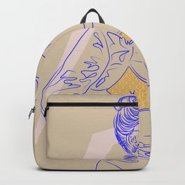 The Future is Female - DUH - Digital Drawing Woman 80s Backpack