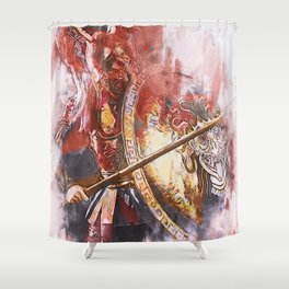 Spartan Hoplite Shower Curtain