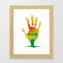 Stop Now Framed Art Print