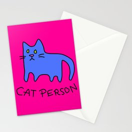 cat person Stationery Cards