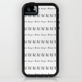 X and O = Hugs and Kisses iPhone Case