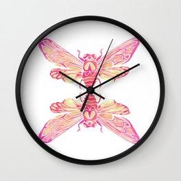 Summer Cicada – Pink Palette Wall Clock