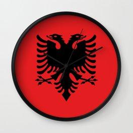 Flag of Albania - Albanian Flag Wall Clock