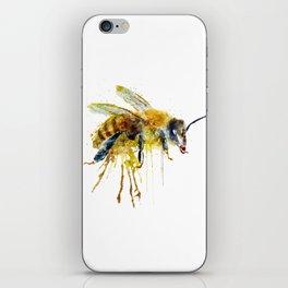 Watercolor Bee iPhone Skin