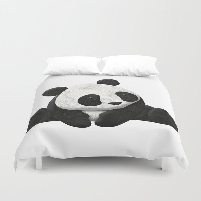 Lace Agate Panda Duvet Cover