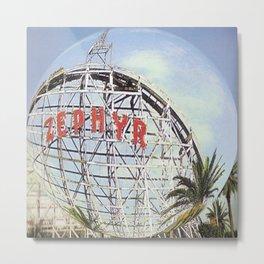 Zephyr Rollercoaster Metal Print
