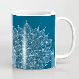 Flowers Blue Coffee Mug