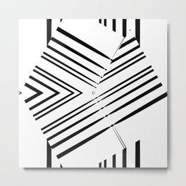 Abstract, geometric fish Metal Print