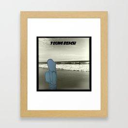Young Beach Framed Art Print
