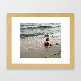 Beach Baby Framed Art Print