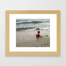 Beach Baby Framed Art Print