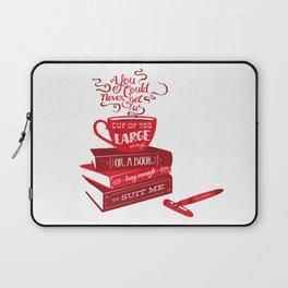 Tea & Books (C.S Lewis) - red Laptop Sleeve