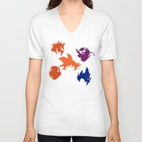 dragon ball z V-neck T-shirts featuring Z Fighters by luvusagi