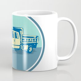 Tipper Pick-up Truck Oval Woodcut Coffee Mug
