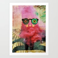 weird Art Prints featuring weird by Monsieur Hubert