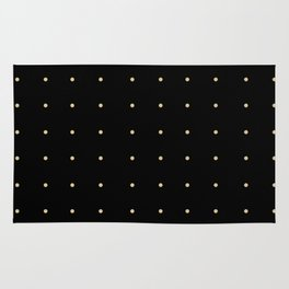 Black & Cream Polka Dots Rug