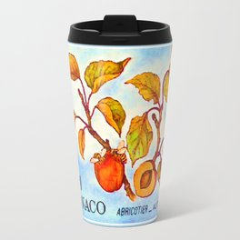 Branch of an Apricot tree in Autumn Travel Mug