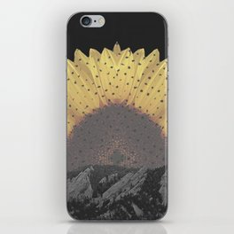 Boulder Colorado Flatirons Sunflower Decor \\ Chautauqua Park Floral Yellow Nature Bohemian Style iPhone Skin